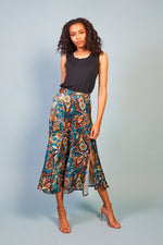 Florence Blue Satin Skirt