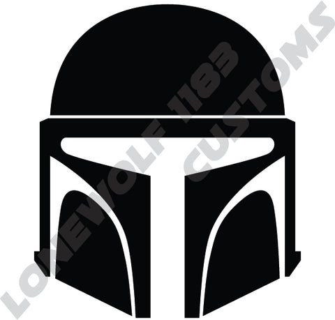 Rebels Grunt Mandalorian Helmet Die Cut Decal