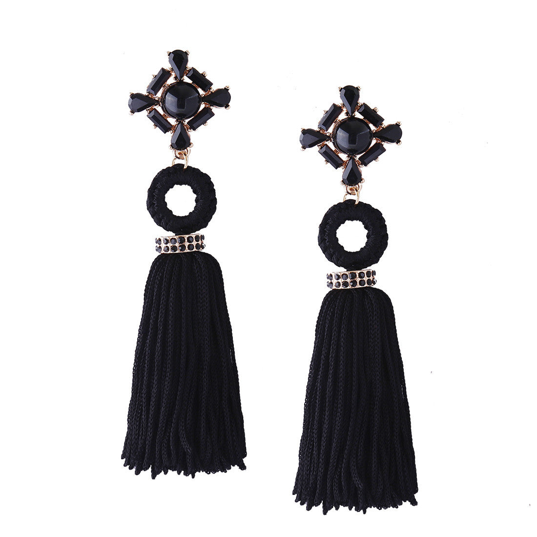 Bohemian Earrings Women Long Tassel Fringe Dangle - Regis&GG