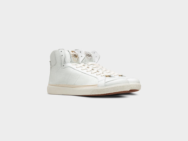 Legend-High in White Vintage Leather