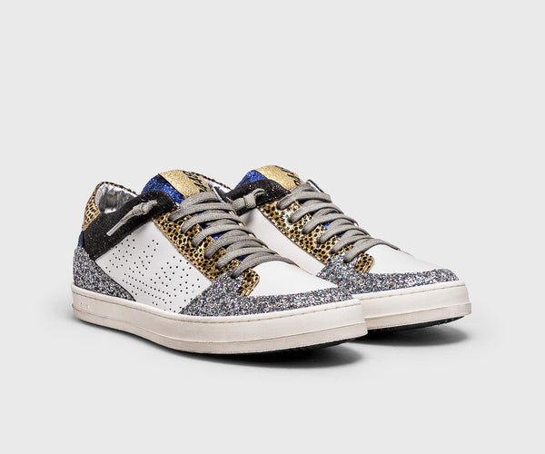 P448 Queens Low Top Sneaker in White Pearl