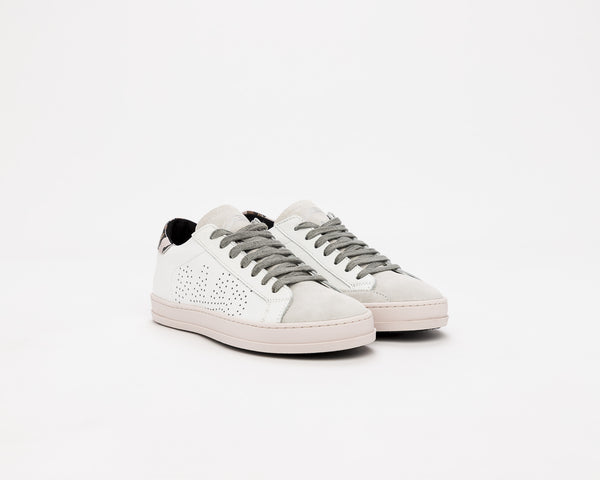 Women's P448 JohnF Low-Top Sneaker in White/Pink