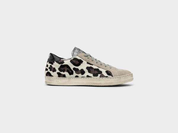 Women's P448 John Low-Top in Cow/Black