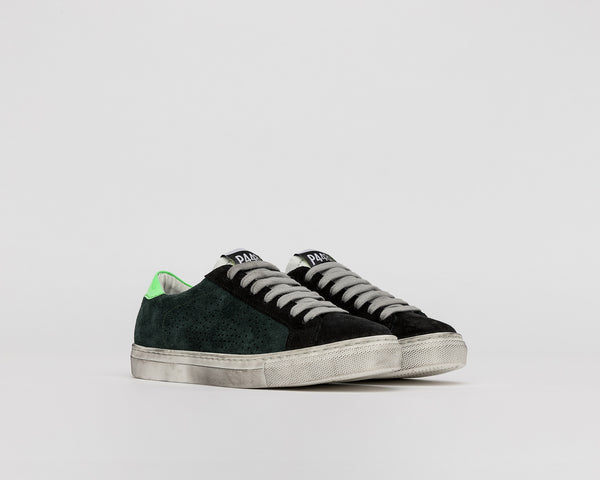 Kid's John-JR in Green Suede
