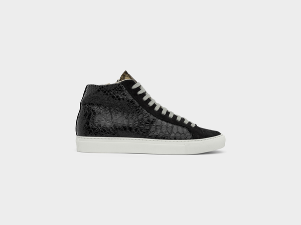Women's P448 Star2.0 High-Top Sneaker in Black/Gold