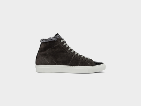 Women's P448 Star2.0Fur High-Top Sneaker in Anthra