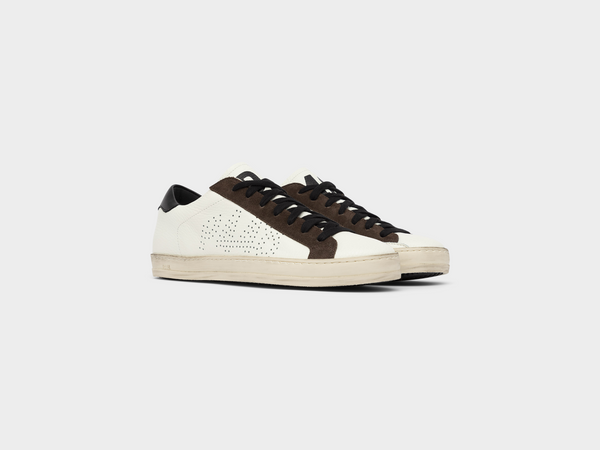 Men's John in White/Brown