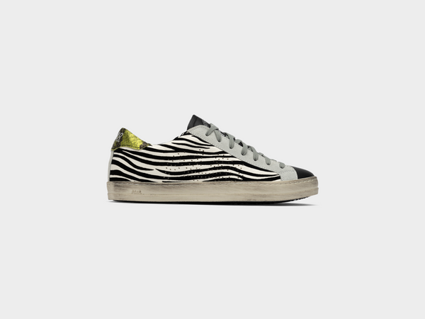 Women's John in White Zebra