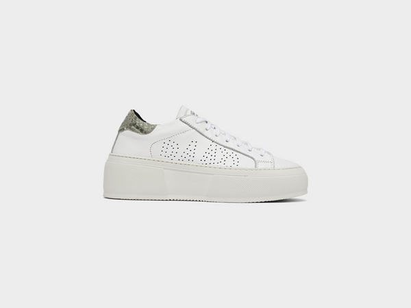 Women's Louise in White/Mexican Python