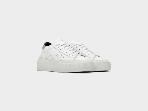 Women's Louise in White/Silver Python