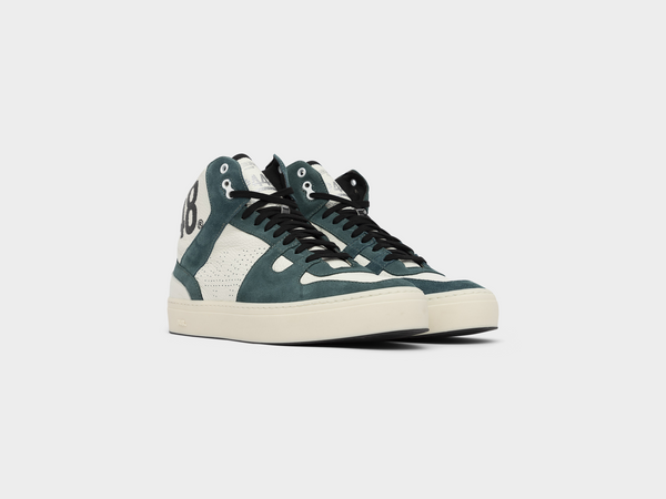 Men's Tommy in White/Emerald Green