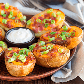 Bacon & Cheddar Potato Skins