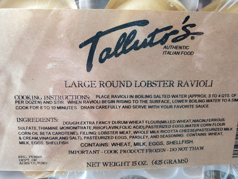 Grocery Lobster Ravioli - Talluto's