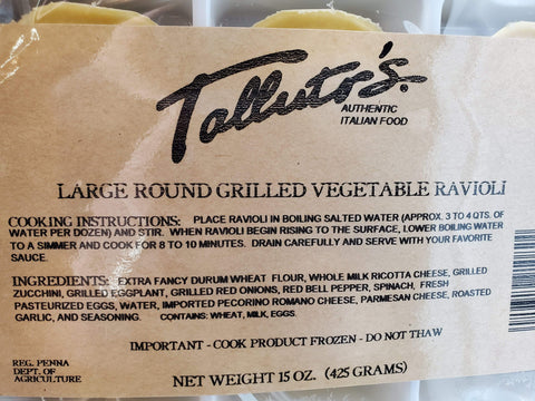 Grocery Roasted Vegetable Ravioli - Talluto's