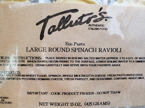 Grocery Spinach Ravioli - Talluto's