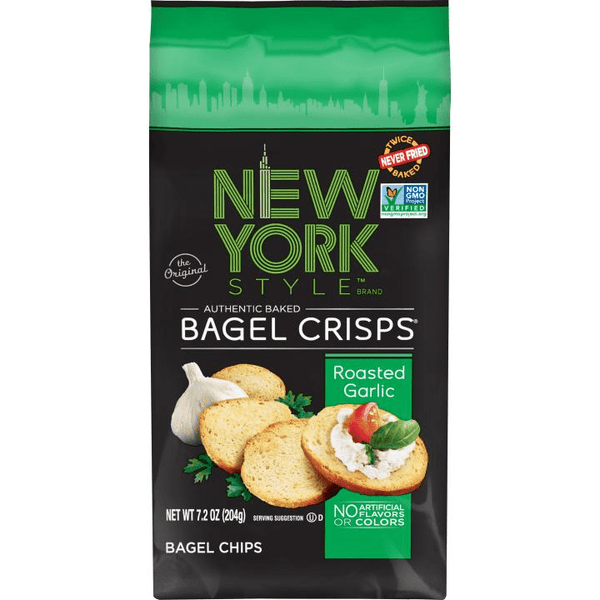 New York Style Roasted Garlic Bagel Chips