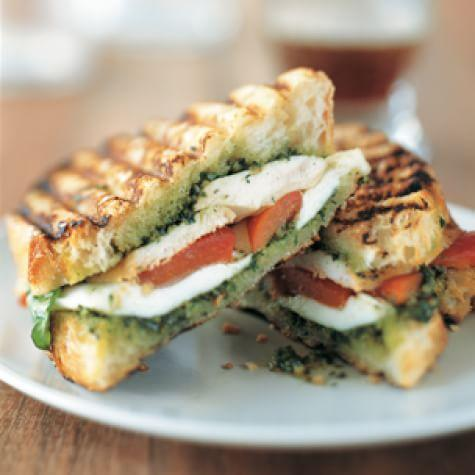 Sandwiches Chicken Roasted Pepper Panini