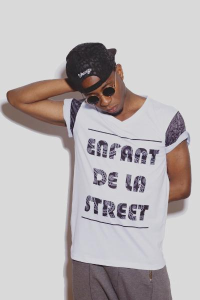 Tribal Bandana Printed T-shirt Nelti C. 'Enfant de la Street' (Men)