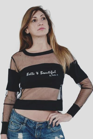 Long-Sleeved Mesh Top 'Belle & Beautiful' Nelti C. (Women)