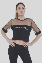 Black Mesh Tee Nelti C. 'Belle & Beautiful' (Women)