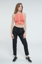 Coral Sleeveless Cropped Top Nelti C. 'Belle & Beautiful' (Women)