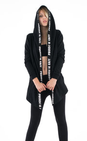 Asymmetrical Hooded Jacket 'Prends le Easy' Nelti C. (Women)