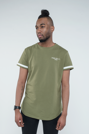 Back Line Printed Khaki Tee 'Longue Story' Nelti C. (Men)
