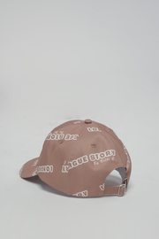 All Over Printed Beige/Camel Hat 'Longue Story' Nelti C. (Women)