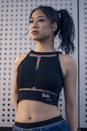 Black Sleeveless Cropped Top Nelti C. 'Belle & Beautiful' (Women)