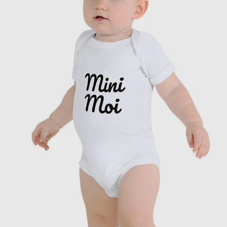 Mini Moi - White Baby Bodysuit - Frenglish Clothing - Nelti Creations
