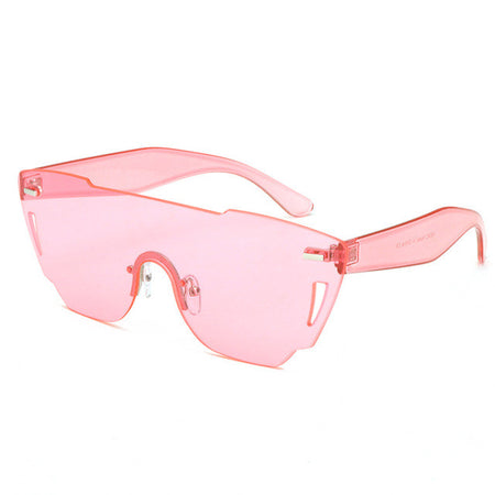 Rimless Sunglasses Women Acetate Candy tinting