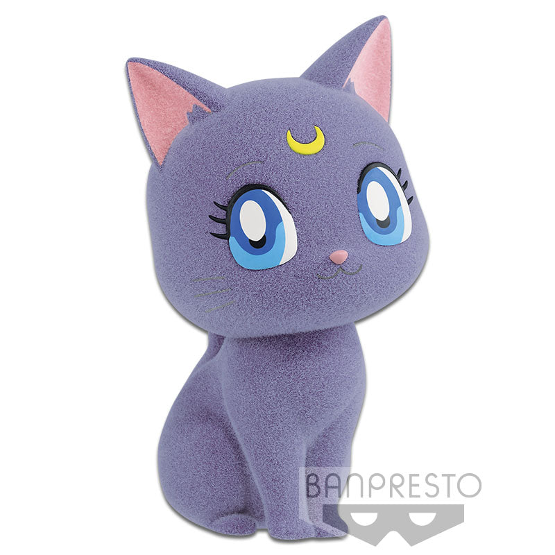 QPosket Sailor Moon Characters Fluffy Puffy - PC Luna/Artemis & Diana ( A : Luna )