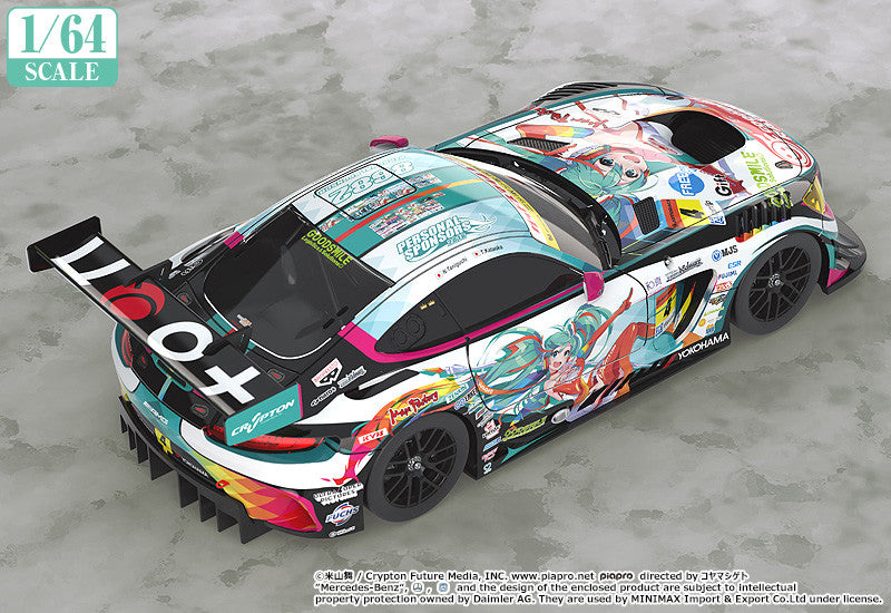 1/64 Scale Good Smile Hatsune Miku AMG 2016 SUPER GT Ver.