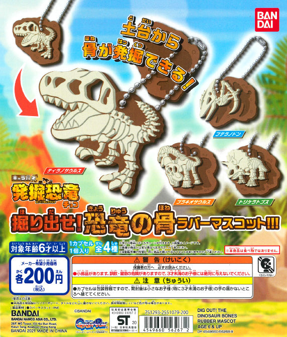 WB0116 DINOSAUR EXCAVATION RUBBER