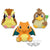 Pokémon Sun & Moon BIG ROUND PLUSH CHARIZARD・PIDGEY・FARFETCH'D