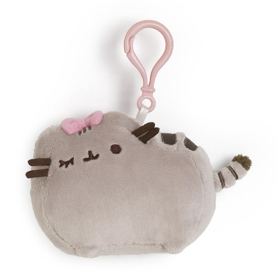 PUSHEEN WITH BOW CLIP 4.5""