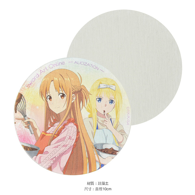 Sword Art Online Diatomaceous Earth Coaster A Asuna & Alice