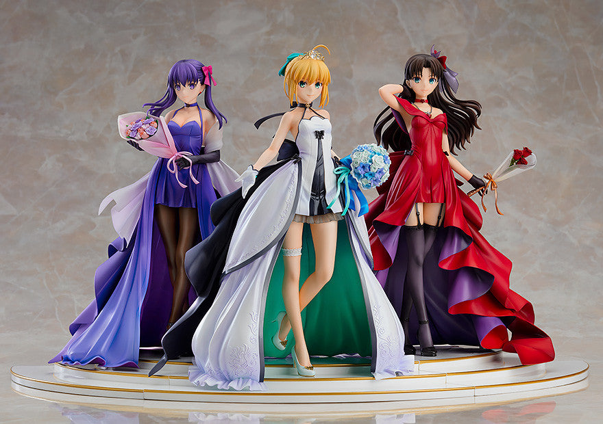 Fate/stay night ~15th Celebration Project~ - Saber, Rin Tohsaka and Sakura Matou ~15th Celebration Dress Ver.~ Premium Box - 1/7th Scale Figures