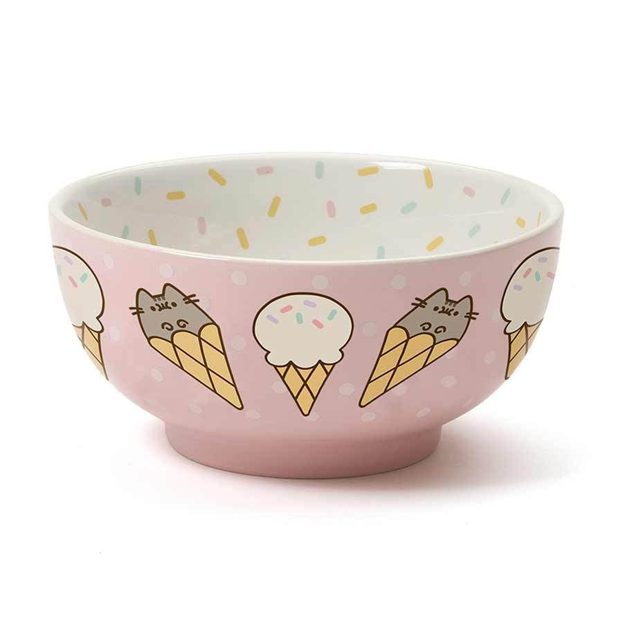 Pusheen with Ice Cream Bowl