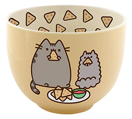 Pusheen with Chips Bowl