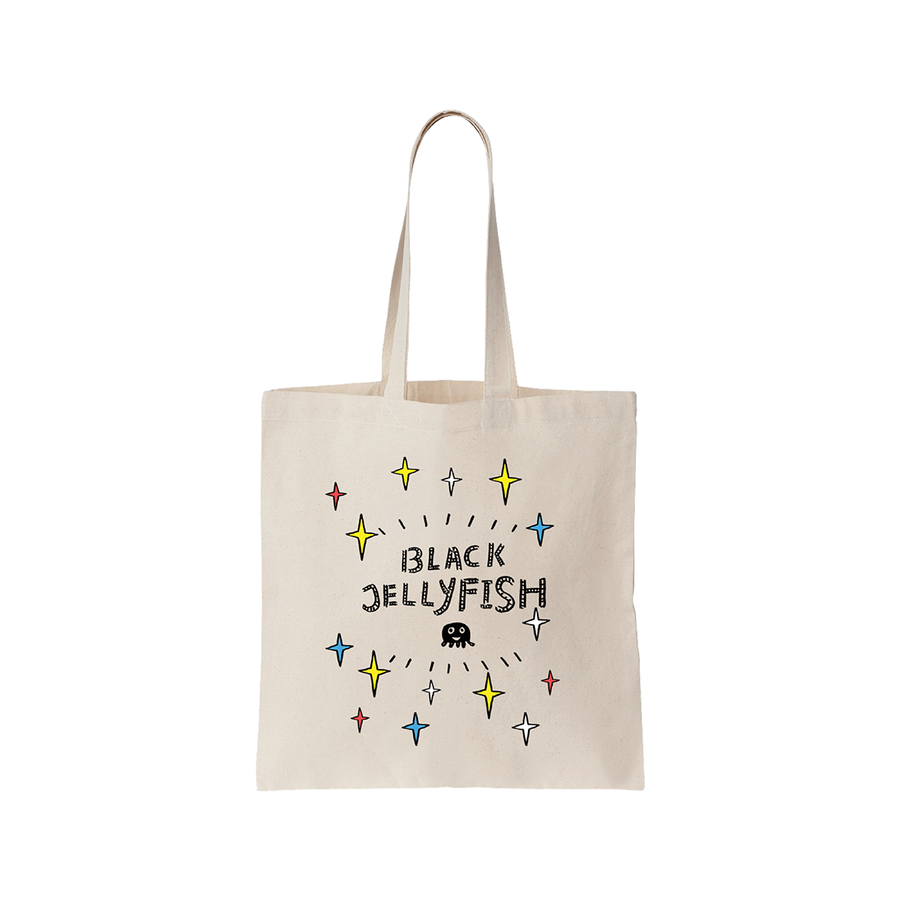 FigFig Black Jellyfish Canvas Bag