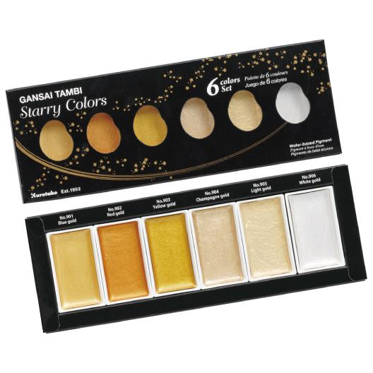 "Kuretake GANSAI TAMBI ""Starry Colors"" Set"