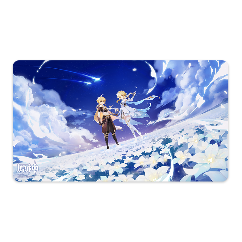 Genshin Impact Theme Mousepad - Twin Stars on Floral Sea