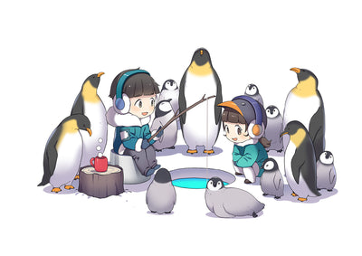 FigFig Po's little planet Penguin TShirt