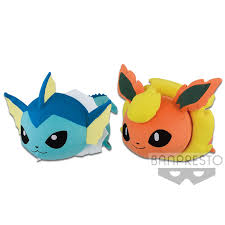 Pokémon Sun & Moon KORORIN FRIENDS BIG PLUSH VAPOREON・FLAREON