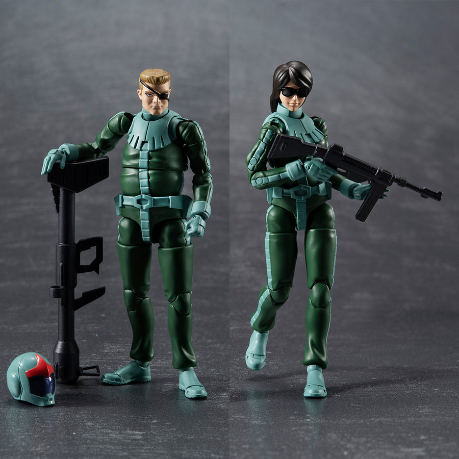 G.M.G. SERIES Principality of Zeon Army Soldier 04~06 Normal Suit Soldier & Char Aznable Set【with gift】