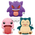 POKEMON BIG ROUND PLUSH LICK - LICKITUNG & GENGAR & SNORLAX