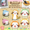Rascal The Raccoon Chara Mascot & Pouch Collection - Complete Set
