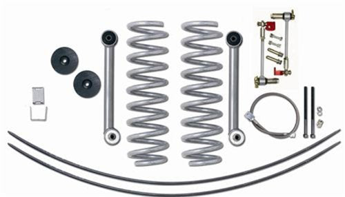 Rubicon Express RE6010T Super-Flex Suspension Lift Kit w/Shocks 3.5 in. Lift Incl.GEN II Disconnects/Coil Spgs/Bmp Stp/Rr Brk Line/UBolts/Cntrl Arm/Use w/TwinTube Shocks Super-Flex Suspension Lift Kit w/Shocks