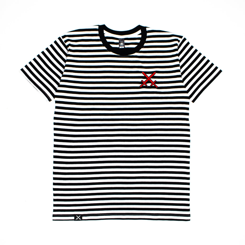 Swords Logo Striped Tee